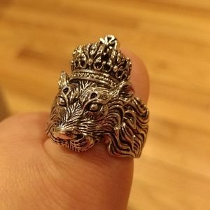 New men's king lion stainless ring